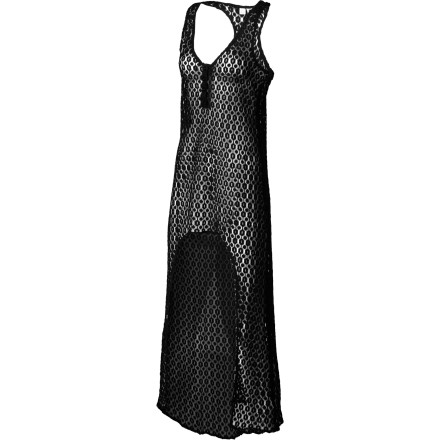 Surf You're sure to start a beach fashion frenzy when everyone sees you stroll up in the Roxy Golden Maze Women's Cover-Up. It has a see-through crochet knit so you can still show off your swimsuit underneath, and the contrasting maxi length in the front and above-the-knee cut in the front gives it a fashion-forward look that's straight off the runway. - $62.00
