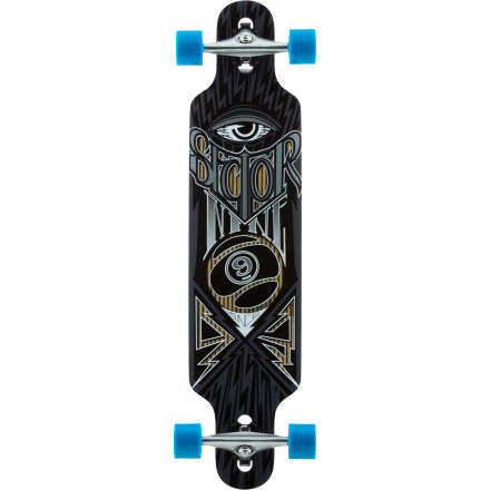 Skateboard The Sector 9 Seeker Longboard features a maple/fiberglass hybrid construction for responsive carves, and a drop-through design with moderate concave for controlled slides and speed checks. - $199.20