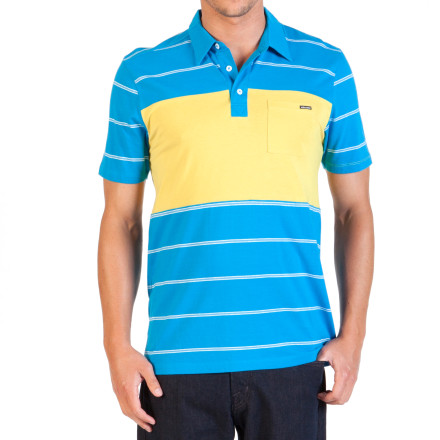 Surf Volcom Blackout Stripe Polo Shirt - Short-Sleeve - Men's - $39.45