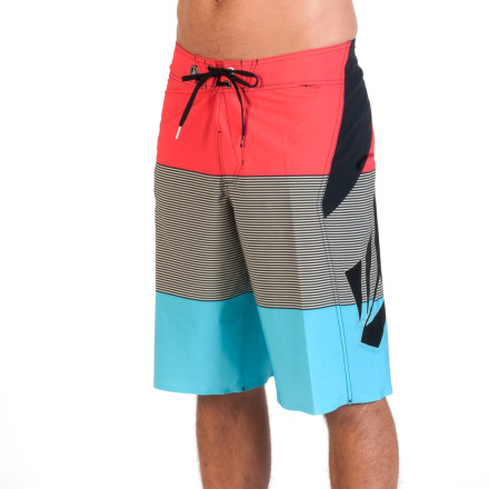 Surf Get ready for all-out wave destruction with the help of the Volcom Annihilator Blakely Men's Board Short. The four-way stretch fabric won't restrict your movement when you're getting barreled, and it has a DWR coating to keep it light for less clinging and drag when you're popping up. - $64.95