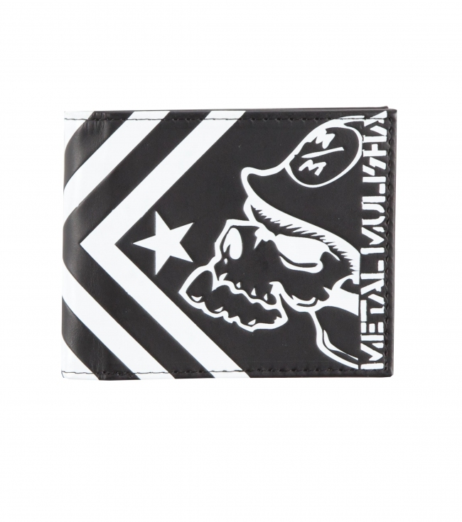 Motorsports Metal Mulisha Mens wallet.  Faux leather bi-fold wallet with debossed screen print. - $18.99