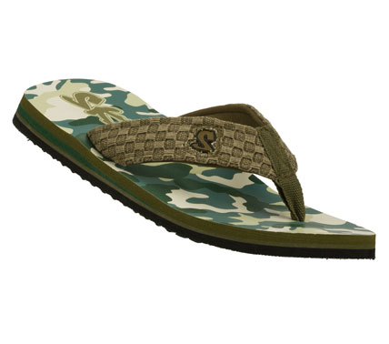 Surf Warm weather style is easy to wear with the SKECHERS Scurried - Moonrayz sandal.  Soft woven fabric upper in a flip flop casual thong sandal with stitching accents and printed footbed. - $22.00