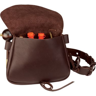 Hunting Full-Grain Leather Black Powder Possibles Bag   $44.99