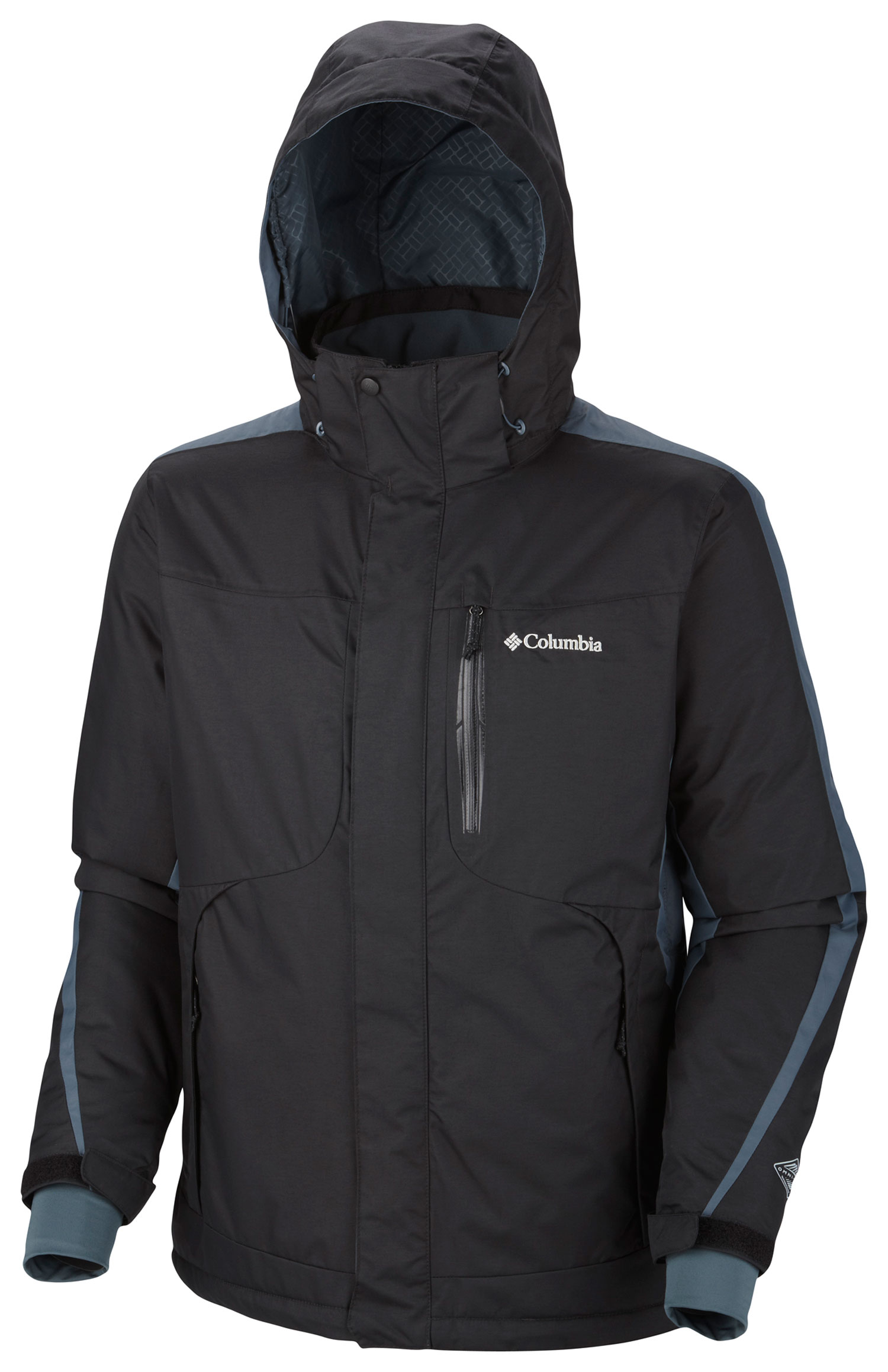 Ski Key Features of the Columbia Cubist 2.0 Ski Jacket: FABRIC Shell: 100% nylon Legacy twill, 100% polyester Legacy twill. Lining: 100% polyester Thermal Reflective. Insulation: 50% polyester/50% recycled polyester, 80g OH. FIT Modern Classic Omni-Heat™ thermal reflective and insulated Omni-Tech™ waterproof/breathable critically seam sealed Removable, adjustable storm hood Drop tail Underarm venting Adjustable, snap back powder skirt Comfort cuffs Laser cut pocket detail Interior security pocket Media and goggle pocket Adjustable cuff tabs - $125.95