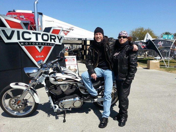 Auto and Cycle Victory rider Troy S. shared this shot from his first day at Daytona Bike Week.  Thanks for sharing the shot and for stopping by guys.