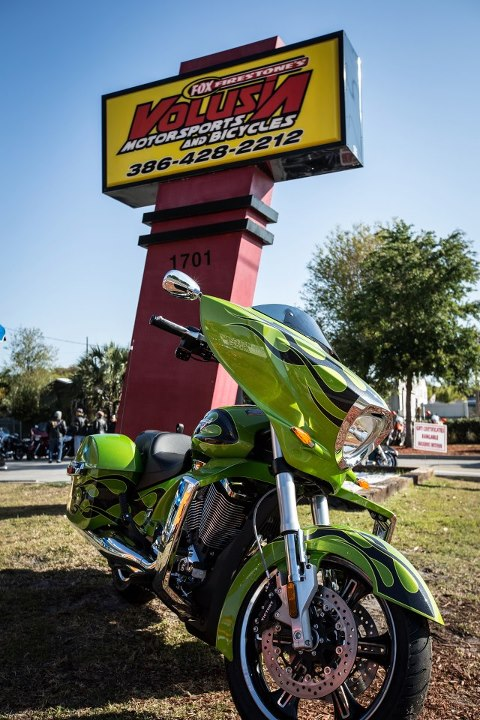 Auto and Cycle The annual Bike Week Owners Ride started out at Volusia Motorsports.