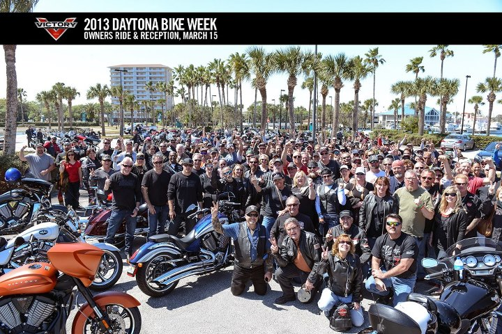 Auto and Cycle A big Victory thank you to everyone who came out for the 2013 Daytona Bike Week Owners Ride and Reception.