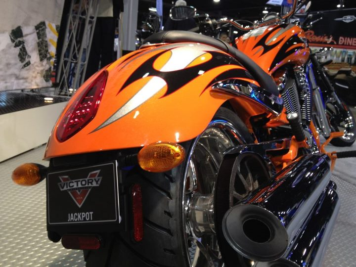 Auto and Cycle The Jackpot is always a head turner. http://www.victorymotorcycles.com/en-us/cruiser/jackpot/motorcycle