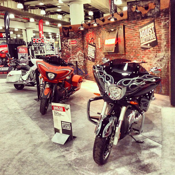 Auto and Cycle Last day at IMS New York. Stop in and see us. #VictoryIMS