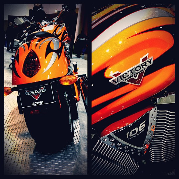 Auto and Cycle First night at IMS Minneapolis. Find us on Instagram @VictoryBikes and follow our IMS updates at #VictoryIMS