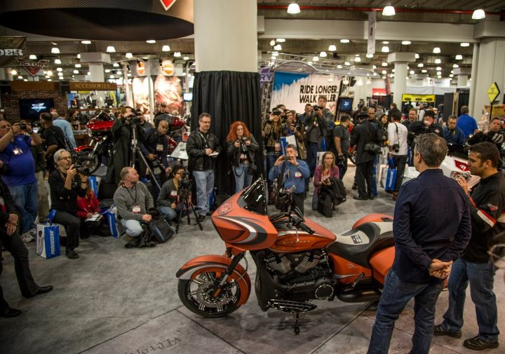 Auto and Cycle Cory Ness's custom Cross Country was a hit with the IMS NY crowd