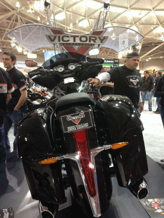 Auto and Cycle 2013 Midnight Metallic Flame Victory Cross Country