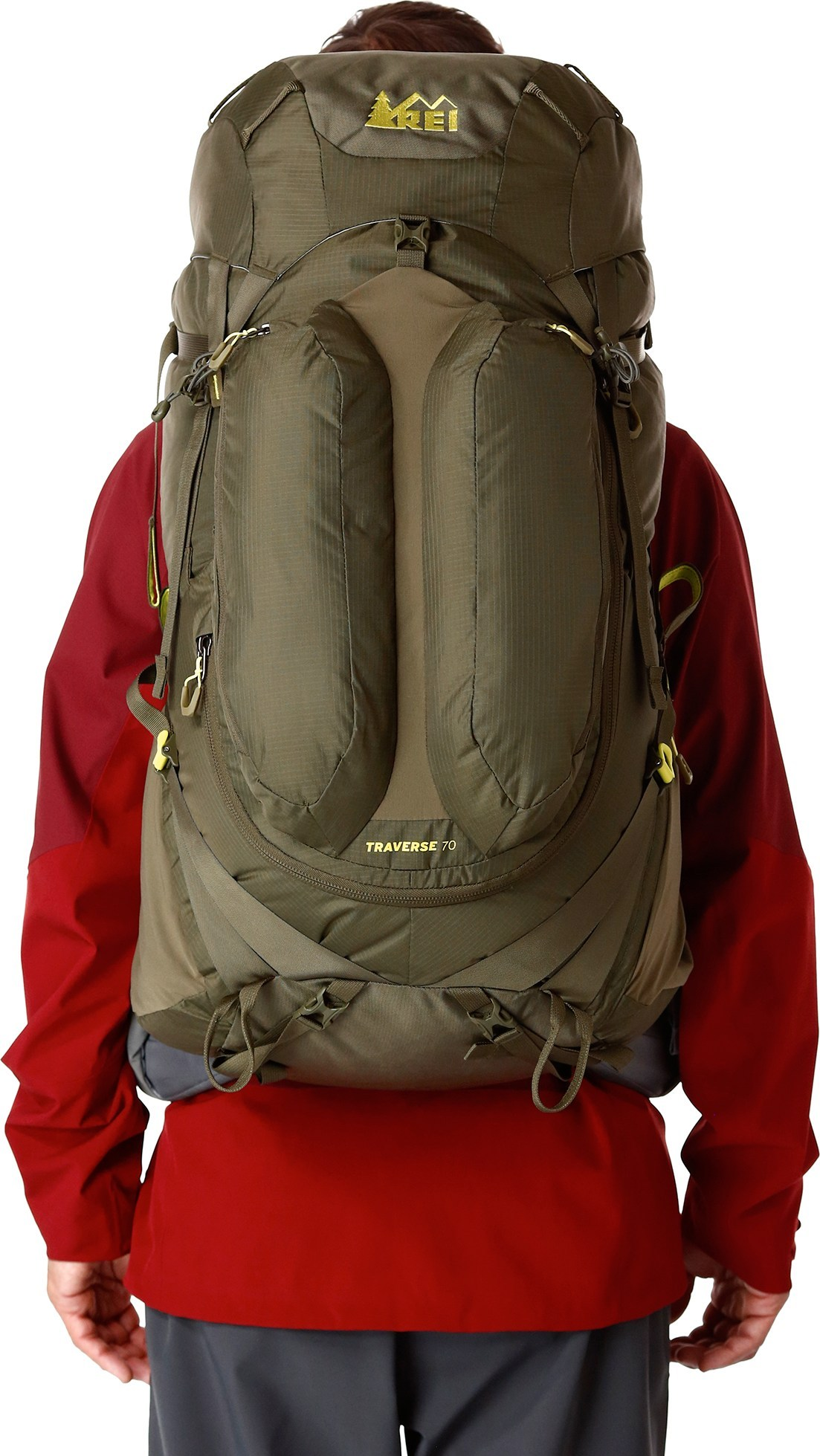 Rei traverse 70 pack thrill on for Rei fishing gear