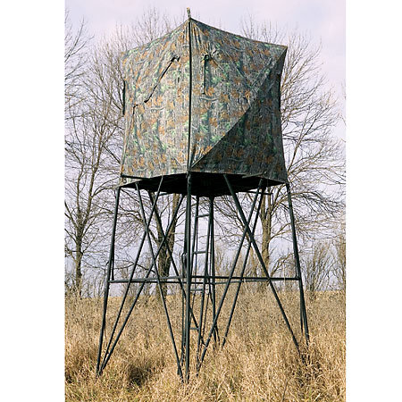Hunting Big Game Treestands Vertex Quad-Pod and Blind Combo   $449.99