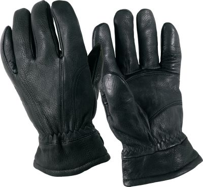 Entertainment Flexible, soft and highly durable, deerskin has long been considered the best material for gloves. These handsome deerskin gloves are lined with soft, heavy fleece for warmth-trapping performance in cold-weather conditions. Imported. Sizes: S-2XL. Colors: Black. - $29.99