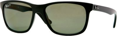 Entertainment Large, elegant frames featuring lenses that provide incredible protection the Ray-Ban RB4181 polarized sunglasses make the perfect sunny-day companion. Polarized lenses feature a special filter embedded with tiny crystals that eliminate reflected glare, reduce eye strain and enhance color and overall visual acuity. 100% protection from UV radiation at 400 nanometers. Each pair includes a cleaning cloth and protective carry case. - $180.00