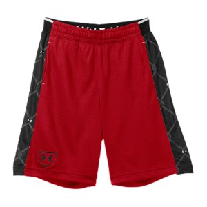 "Sports These UA Baseball shorts everything you want when you're training: the right weight, the right feel, and they'll last forever. Lightweight, textured-mesh fabric lets your shorts breathe without losing durabilitySignature Moisture Transport System wicks sweat away from the bodyAnti-odor technology prevents the growth of odor causing microbesIconic UA halfback elastic waistband with internal drawcordMesh hand pocketsChain link printed side panels 9"" inseamPolyesterImported - $21.99"