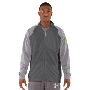 Fitness The UA Deuces warm-ups are built for the time off the court and during practice. Just the right warmth and all the comfort you want post-game. Knit fabric with a smooth exterior and a soft, brushed interior for just the right warmth Signature Moisture Transport System wicks sweat away from the bodySecure chest media pocket Snap hand pockets Encased elastic rear hem PolyesterImported - $38.99
