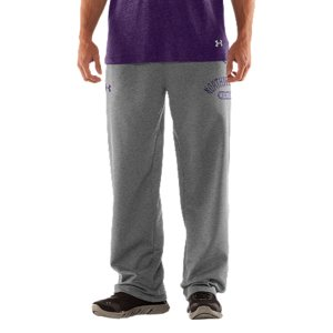 "Fitness We're not telling you to retire your old Wildcats sweats, but they better get used to taking gamedays off. Our new-school Northwestern sweatpants keep that vintage style and old-school, worn-in feel. Then dial up the performance to work as hard as those uniforms you see on the field. UA Storm gear uses a Durable Water Repellent (DWR) finish, which repels water without sacrificing breathabilityLightweight Charged Cotton(R) adds quick-dry performance to the soft comfort of cottonSturdy 300g cotton-blend fleece has a hard-faced outer and a soft, brushed inner to trap warmthSignature Moisture Transport System wicks sweat away from the bodyDurable ribbed waistband with front drawcordWarm hand pockets32"" inseamSoft screen print vintage graphics Raw edging adds an old-school feelCotton/PolyesterImported - $59.99"