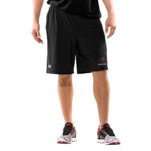 "Fitness Real fans know it's more than an Owls logo. It's the teams. The tradtions. And the rivalries. UA was already in college stadiums and on the fields, now we're bringing that same athletic performance to shorts designed for Temple fans. Smooth, lightweight fabric is built for superior breathability and movement 4-way stretch construction improves range of motion and dries fasterSignature Moisture Transport System wicks sweat away from the bodyCovered elastic waistband with internal drawcordMesh hand pockets9"" inseamPolyester/Elastane Imported - $34.99"