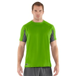 Fitness UA Combine(R) Training workouts are all about high intensity. This is the gear we designed to handle it. Lighter, tougher, with unrivaled ventilation and a slightly more streamlined fit, this short sleeve is built for elite performance. Subtly textured lightweight knit body is soft for comfort and strong for durability Hex-textured mesh panels under arms and at the back of neck add strategic ventilationSignature Moisture Transport System wicks sweat away from the bodyAnti-odor technology prevents the growth of odor causing microbesRaglan sleeve construction and flatlock seams allow a full range of motion without chafingBody: 4.2 oz. PolyesterPanels: 3.7 oz. PolyesterImported - $25.99