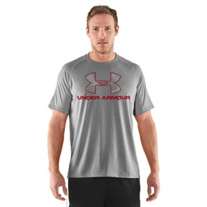 Fitness UA graphic T's are like all of our other T's-performance is built right into their DNA. UA Tech(TM) T-shirts are made from an innovative, light material that feels softer and more like cotton, but also wicks away sweat and dries fast. Lightweight UA Tech(TM) fabric with an ultra-soft, natural feel for unrivaled comfortSignature Moisture Transport System wicks sweat away from the bodyAnti-odor technology prevents the growth of odor causing microbesSmooth flatlock seams allow chafe-free motionPolyesterImported - $24.99