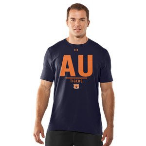 Fitness Real fans know it's more than an Auburn logo. It's the teams. The tradtions. And the rivalries. UA was already in college stadiums and on the fields, now we're bringing that same athletic performance to a T-shirt designed for Tigers fans. Lightweight Charged Cotton(R) adds quick-dry performance to the soft comfort of cottonSignature Moisture Transport System wicks sweat away from the bodyDurable ribbed collar provides a comfortable fitCottonImported - $29.99
