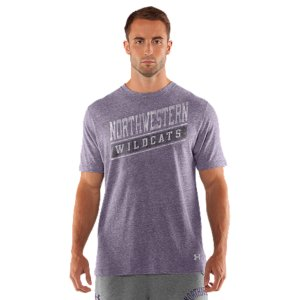Fitness We're not telling you to retire your old Northwestern T-shirt, but it better to get used to taking gamedays off. Our new-school Wildcats T keeps that vintage style and old-school, worn-in feel. Then dials up the performance to work as hard as those uniforms you see on the field. Lightweight, durable tri-blend fabric balances soft comfort with quick-dry performanceSignature Moisture Transport System wicks sweat away from the bodyAnti-odor technology prevents the growth of odor causing microbesSoft screen print graphics with a vintage feelCotton/Polyester/RayonImported - $29.99