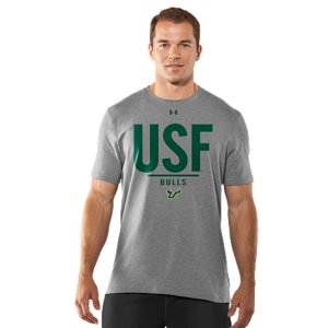 Fitness Real fans know it's more than a South Florida logo. It's the teams. The tradtions. And the rivalries. UA was already in college stadiums and on the fields, now we're bringing that same athletic performance to a T-shirt designed for Bulls fans. Lightweight Charged Cotton(R) adds quick-dry performance to the soft comfort of cottonSignature Moisture Transport System wicks sweat away from the bodyDurable ribbed collar provides a comfortable fitCottonImported - $29.99