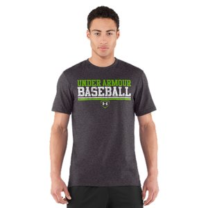 Sports UA graphic T's are like all our other T's-performance is built right into their DNA. This T-shirt is made from Charged Cotton(R) so it still has the familiar comfort of cotton, but dries much faster, so you'll stay cooler when you go to work. Lightweight Charged Cotton(R) has the comfort of cotton, but dries much fasterSignature Moisture Transport System wicks sweat away from the bodyAnti-Odor technology prevents the growth of odor causing microbesDurable ribbed collar provides a comfortable fitCotton/PolyesterImported - $24.99