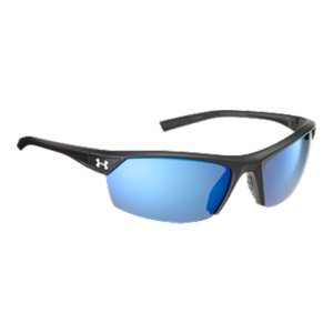 Fitness Blue Mirror Polarized LensesUltra-light ArmourFusion(TM) frames are built from a combination of titanium and Grilamid for superior strength and flexibilityPatented ArmourSight(R) lenses deliver 20% more undistorted peripheral vision, and are 10X stronger than ordinary polycarbonate lensesPatented Multiflection(TM) lens coating eliminates visual obstructions by repelling water and resisting scratching, smudging, and staining Three-Point Grip ensures a comfortable and secure fit Adjustable nosepadAll Under Armour(R) Performance Eyewear lenses block 100% of UVA, UVB, and UVC rays - $144.99