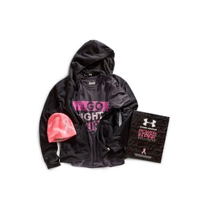 Fitness UA Power In Pink(TM) celebrates the women who use sports, fitness, and an active lifestyle in their fight against breast cancer. Join the fight along side these ladies by gearing up and going out in these great pieces from our UA Power In Pink(TM) collection. Under Armour(R) will donate a minimum of $500,000 to various breast cancer centers and charities through our UA Power In Pink(TM) programWomen's Armour Fleece Storm Full ZipArmour(R) Fleece construction finished with highly water-resistant UA Storm technology Soft, brushed inner layer traps heat for all-day warmth and comfortSignature Moisture Transport System wicks sweat to keep you dry and lightRaglan sleeve construction enhances range of motion and eliminates chafingUA PIP pink lined two-piece hood with adjustable bungees and stand collar for extra coverageRibbed cuffs and hemUpdated open hand pocketsIconic Pink Ribbon graphic on sleeve with matching UA logo at hemPolyesterImportedWomen's UA PIP I Won't Stop Short SleeveSuper-light Speed Tech fabric has a soft & sleek feel for incredible next to skin comfortPinhole mesh back dumps heat for superior ventilation where you need it mostLightweight, 4-way stretch fabrication improves mobility, while helping to maintain shapeSignature Moisture Transport System wicks sweat to keep you cool, dry & lightSlight drop tail design ensures extra coverage while trainingI WONT STOP Pink Ribbon front graphic with reflective POWER IN PINK script for extra visibility Interior pop stitch detailing PolyesterImported Women's UA PIP BeanieSoft and durable stretch knit construction for the perfect fitSignature brushed ColdGear(R) lining for the ultimate warmth and comfortIconic Pink Ribbon woven label Women's one size fits allAcrylic/SpandexImported - $99.99