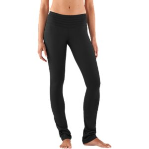 "Fitness Some call them cigarette pants. Some call them stovepipe. We choose to call them the perfect pants for any occasion. That's because they're not too skinny and they're not too flared. They're slim through the hips and thigh with a straight leg hem all the way down to the ankle. This creates a sense of balance from top to bottom. Tuck these into boots or wear barefoot, our Straight Leg pants are your new everything. Signature UA StudioLux(R) fabric delivers relentless performance with a super-soft luxurious feelUnparalleled support and coverage for a solid, confident fitSignature Moisture Transport System wicks sweat to keep you dry and lightLightweight, 4-Way Stretch construction improves mobility and accelerates dry timePleated, pop-color 2-piece waistband prevents bunching, bulging, and bothersome roll-overAdvanced seam placement shows off your curvesRise sits just right on your hips for a more flattering fit and feelAnti-microbial ""strut gusset"" construction fits just right and never looks too tightHidden waist pocket to stash your keys, cards, or cash32"" inseamPolyester/ElastaneImported - $89.99"