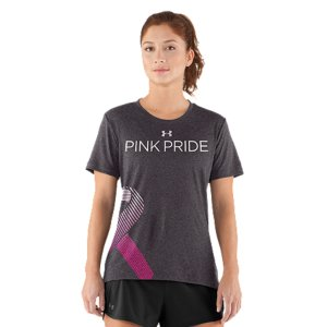 Fitness UA Power In Pink(TM) celebrates the women who use sports, fitness, and an active lifestyle in their fight against breast cancer. Join the fight alongside these ladies by gearing up and going out in these great pieces from our UA Power In Pink(TM) collection. Part of our UA Power In Pink(TM) Collection100% of the proceeds from this T-shirt go to breast cancer charitiesUnder Armour(R) will donate a minimum of $500,000 to various breast cancer centers & charities through our UA Power In Pink(TM) programNatural cotton-blend fabric delivers a soft, athletic feel for superior comfort & performanceSignature Moisture Transport System wicks sweat to keep you dry and lightDries faster than ordinary cottonAnti-microbial technology keeps your gear smelling fresher, longerDeep V-neck collar & slimmer fit deliver a sleek, more feminine silhouetteSHE'S A FIGHTER neck tapeOffset UA PIP camo ribbon front graphic 4.4 oz. Cotton/PolyesterImported - $20.99