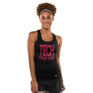 Fitness Classic campus style meets UA innovation in this suped up Texas Tech performance tank, built to take you from ticket lines to the sidelines, and out celebrating after. Super-soft poly fabric for superior next-to-skin comfortClassic 2x2 stretch rib construction improves mobility and maintains shapeSignature Moisture Transport System wicks sweat to keep you cool, dry, and lightLightweight stretch construction improves mobility for full range of motionFeminine racer back design with super-breathable performance mesh panelsTEXAS TECH front and back graphicsPolyesterImported - $27.99