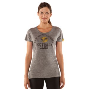 Sports Show your Gotham City pride with vintage football style-and advanced UA performance. This T-shirt has a modern scoop neck for both breathability and a flattering look. And UA innovation is built right in, keeping you dry and comfortable in the gym or in the stands. Athletic performance...Rogues attitude. Limited edition piece from the official Gotham Rogues Collection  Lightweight, durable tri-blend fabric balances soft comfort with quick-dry performanceSignature Moisture Transport System wicks sweat away from the body Anti-odor technology prevents the growth of odor causing microbes5.0 oz. Cotton/Polyester/RayonMade In The USA - $39.99