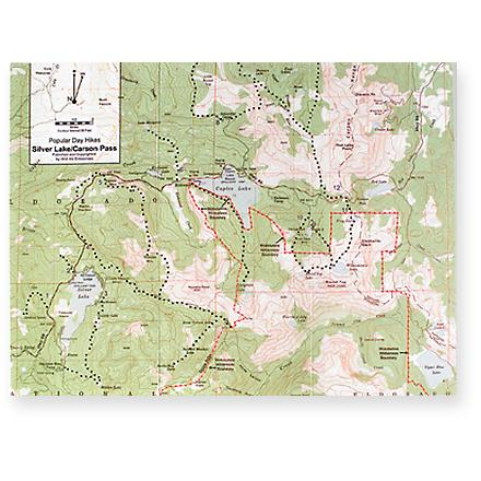 This map to the Silver Lake/Carson Pass area also features a concise guide to day hikes in the area. - $3.50