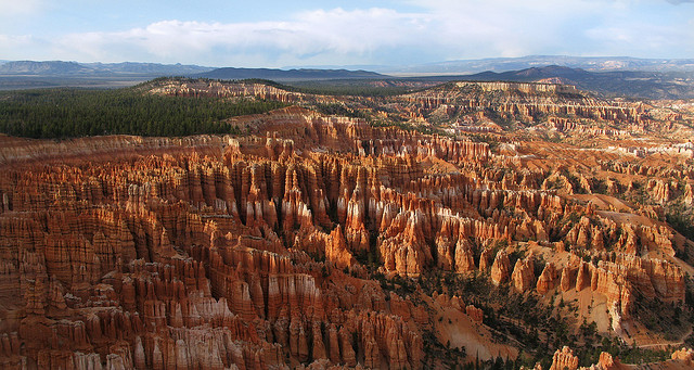 Camp and Hike Inspiration Point Sunset - Bryce Canyon National Park - the Navajo Loop trail is near the bottom of the picture