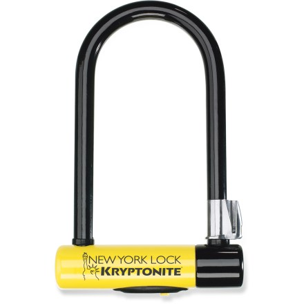 Fitness Delivering excellent security, the stout Kryptonite New York Standard U-lock is reinforced to offer added protection and resistance against would-be bike thieves. - $102.95