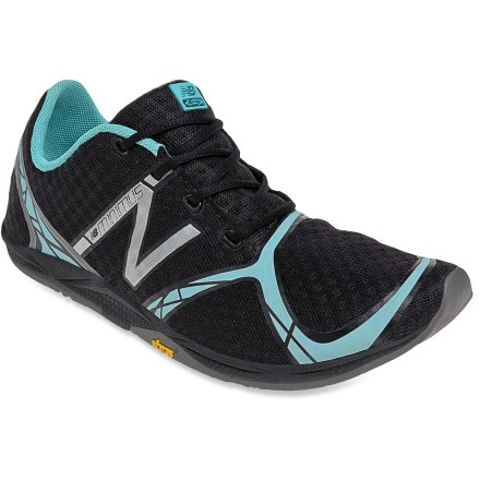 Fitness The New Balance WR00 Minimus road-running shoes are built around a zero-drop midsole for a minimalist running experience on paved streets. In awarding a 2012 Gear of the Year award to the New Balance Minimus,. . 0mm heel-to-toe drop encourages a natural midfoot or forefoot strike. Durable, lightweight synthetic leather uppers feature ample mesh paneling so your feet can breathe easily; forefoot areas of uppers feature minimal seams for added comfort. Synthetic linings wick perspiration away from your feet and dry quickly to discourage the development of blisters; antimicrobial treatment discourages odors. Lightweight EVA midsoles offer super flexibility and featherweight cushion. Minimal Vibram(R) rubber outsoles provide excellent grip on the road. New Balance WR00 Minimus women's road-running shoes are designed to be worn with or without socks. Closeout. - $76.73
