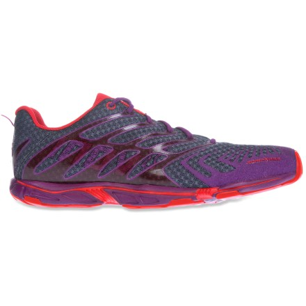 Fitness Inov8 Road-X 233 road-running shoes for women are perfect for running long distances in a minimalist shoe with a touch of cushioning. - $59.83