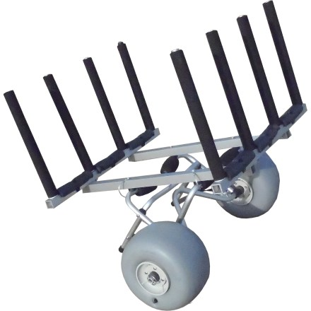 Kayak and Canoe The Wheeleez Stand Up Paddleboard Rack converts a Wheeleez kayak cart to an SUP taxi and transports 3 boards to the water. - $199.00