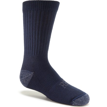 Camp and Hike The REI Merino Wool Crew Light Hiking socks are made with a merino wool and nylon blend for all-day performance when kids hit the trail. - $3.83