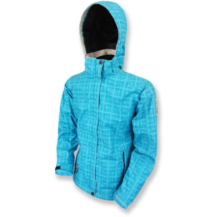 The Killtec Antigua Jr Tonal rain jacket cloaks girls in a waterproof, windproof and breathable layer of comfortable protection from the elements while they enjoy wet-weather outdoor adventures. 2-layer polyester shell fabric features a membrane with a microporous polyurethane coating that helps ensure waterproofness while allowing interior moisture to escape. Drawcord hem and rip-and-stick adjustable cuffs all work to seal out rain and snow. Polyester mesh lining is comfortable against the skin. 3-panel hood features a brim and adjustable drawcord around the face. The Killtec Antigua Jr Tonal rain jacket features an internal zippered chest pocket and external zippered hand pockets. - $36.83