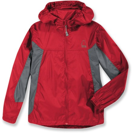 Keep young adventurers ready for sudden rain or wind with the lightweight, easy-to-pack Sierra Designs Microlight jacket. Polyester fabric with a polyurethane coating offers ample water resistance and wind blocking at a great value. Features an attached hood and a single-hand adjustable drawcord hem. Seams are not sealed; jacket offers water resistance in light rain for a short period of time. Closeout. - $24.73