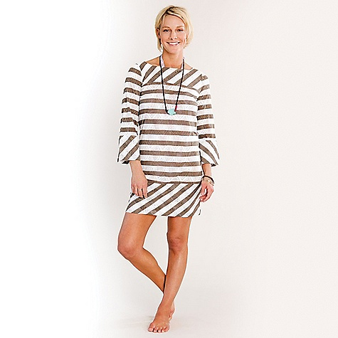 Entertainment Free Shipping. Carve Designs Women's Del Rey Coverup DECENT FEATURES of the Carve Designs Women's Del Rey Coverup 33in. long, falls above knee Boat-neck Wide bracelet sleeves Allover burnout with printed stripe The SPECS 3.7 oz Cotton Poly Burnout 60% Organic Cotton, 40% Polyester - $65.95