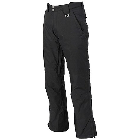 Free Shipping. Marker Men's POP Cargo Shell Pant DECENT FEATURES of the Marker Men's POP Cargo Shell Pant Fully Seam Sealed Adjustable Internal Velcro Waistband Tabs Inner Thigh Ventilation with YKK Zippers and Power Mesh Backing Lower Leg Gusset with Internal Powder Cuff and Gripper Elastic Scuff Guards Multiple Exterior Pockets Articulated Knees Relaxed Fit YKK Zippers The SPECS Inseam: 32in. 100% Nylon Taslan Dobby 6.6 oz/yd Insulation: 100% Polyester 80gm - $148.95