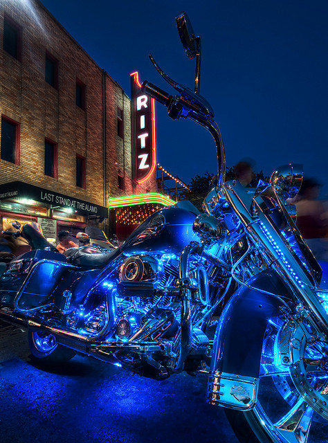 Auto and Cycle  the big ROT Biker Rally in Austin Texas