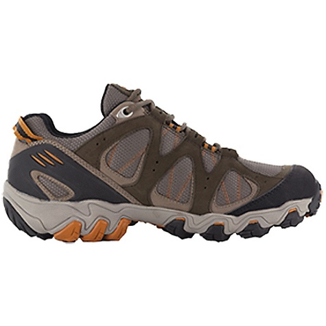 Camp and Hike Free Shipping. Oboz Men's Rimrock Low Shoe DECENT FEATURES of the Oboz Men's Rimrock Low Shoe Waterproof Nubuck Leather and High Abrasion Resistant Textile TPU Heel Counter BFit Deluxe Dual Density EVA TPU Chassis Nylon Shank Granite Peak Outsole The SPECS Weight: 1/2 pair: 15.2 oz - $125.00