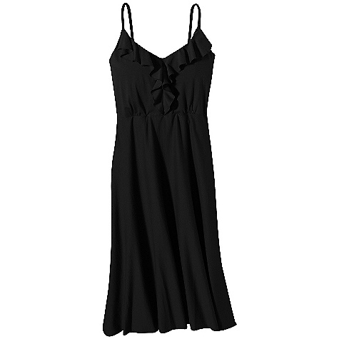 Entertainment On Sale. Free Shipping. Patagonia Women's Kamala Dress DECENT FEATURES of the Patagonia Women's Kamala Dress Soft-handed jersey knit with smooth drape V-neck front with feminine ruffle Doubled bodice Shelf bra for support Shirring under bust, beautiful drape A-line hem falls above the knee Regular fit The SPECS Weight: 238 g / 8.4 oz Fabric: 4.8-oz 55% organic cotton/45% Tencel Recyclable through the Common Threads Recycling Program This product can only be shipped within the United States. Please don't hate us. - $42.99